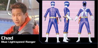 as Chad Lee in Power Rangers