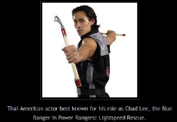 Thai-American actor known for his role as Chad Lee, the Blue Power Ranger
